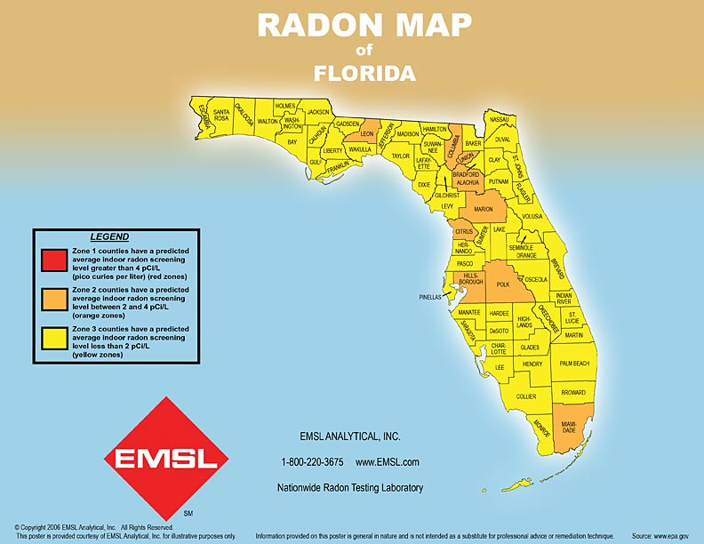 epa radon map with Florida on Grpinfo as well Florida further California Map Of Radon Zones additionally Professional Radon Inspection Testing in addition Concrete Slab Over Polyethylene.